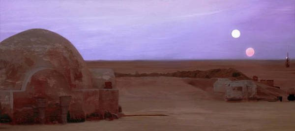 Far Away Wall Art - Digital Art - Tatooine Sunset by Mitch Boyce