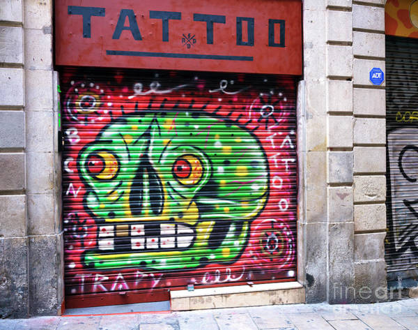 Photograph - Tattoo Graffiti In Barcelona by John Rizzuto