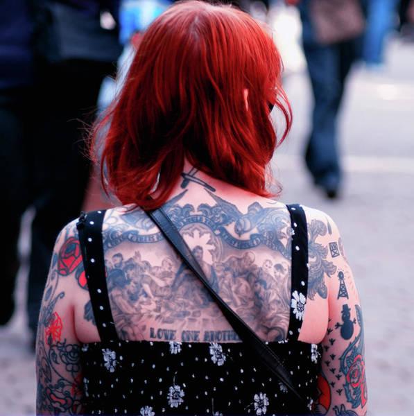 Tats Wall Art - Photograph - Tattoo Lady Colour by Paul Jarrett