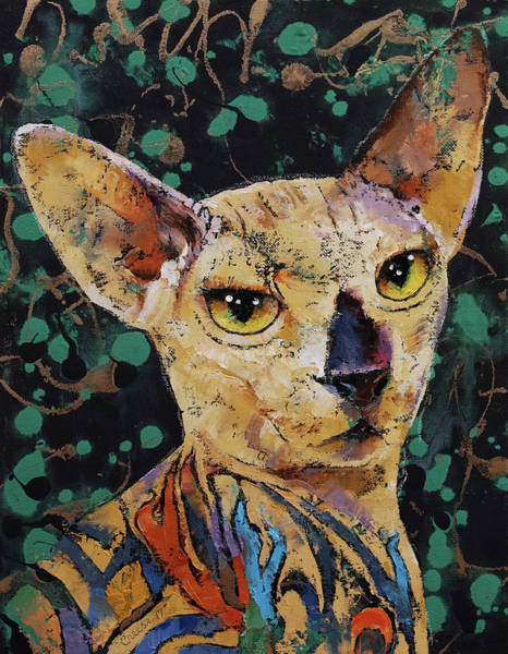 Wall Art - Painting - Tattooed Sphynx by Michael Creese