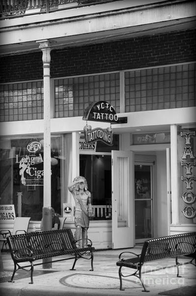 Photograph - Tattoos And Cigars In Ybor City - Black And White by Carol Groenen