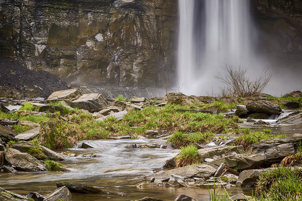 Niagara Falls State Park Photograph - Taughannock Falls Base by Stephen Stookey