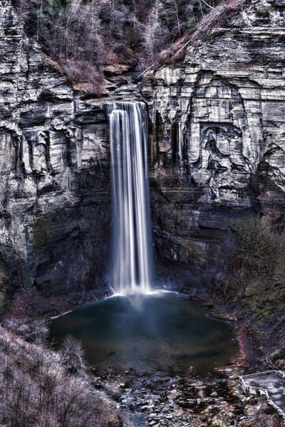 Niagara Falls State Park Photograph - Taughannock Falls Late Autumn by Stephen Stookey