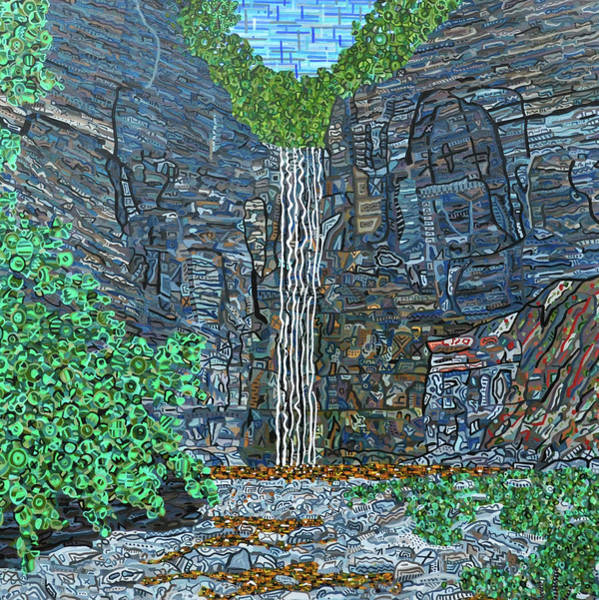 Wall Art - Painting - Taughannock Falls by Micah Mullen