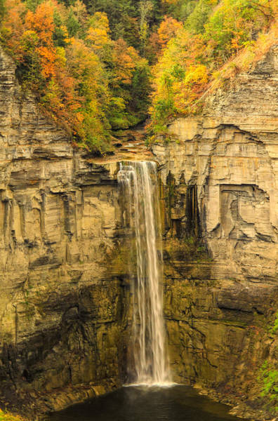 Mixed Media - Taughannock Falls State Park In Autumn by Dan Sproul
