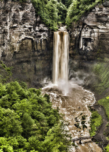 Niagara Falls State Park Photograph - Taughannock Falls by Stephen Stookey