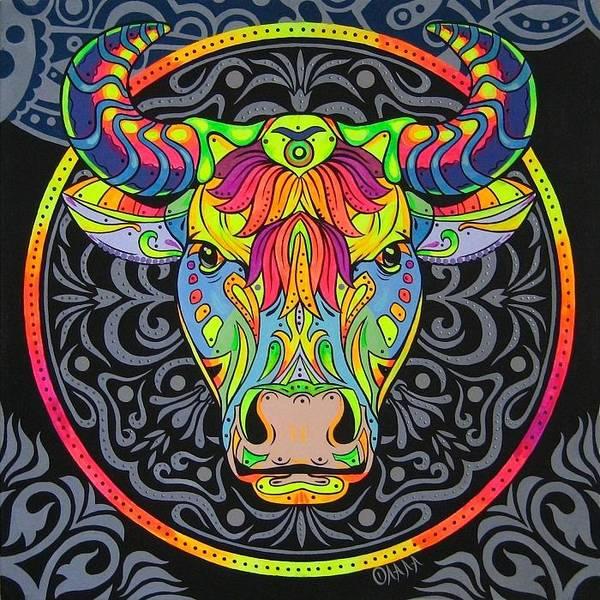 Acrilic Painting - Taurus Day Light by Olala Lomanova