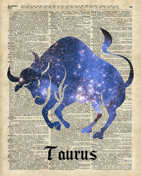 Wall Art - Painting - Taurus by Anna W