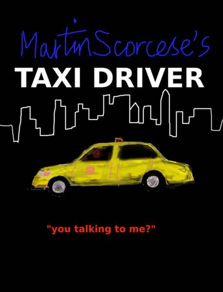 Midtown Manhattan Digital Art - Taxi Driver Movie Poster by Enki Art
