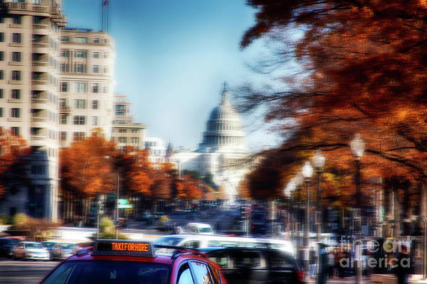 Taxi For Hire  Art Print by Steven Digman