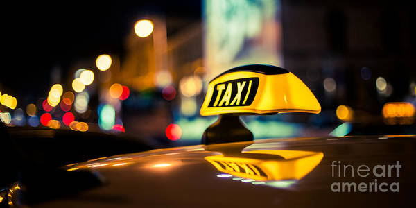 Photograph - Taxi by Hannes Cmarits