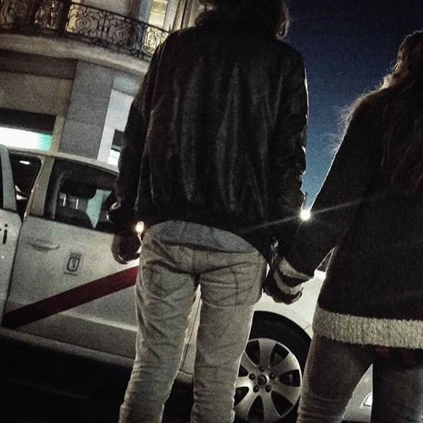 Wall Art - Photograph - Taxi Love #couple #love #nightshot by Rafa Rivas