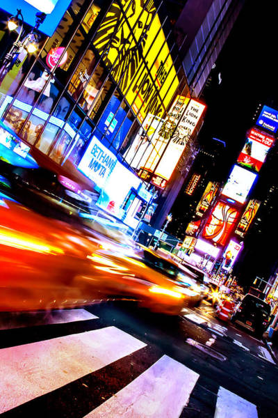 Yellow Taxi Photograph - Taxi Square by Az Jackson