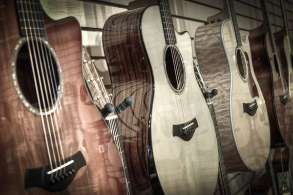 Acoustic Guitar Photograph - Taylor by David  England