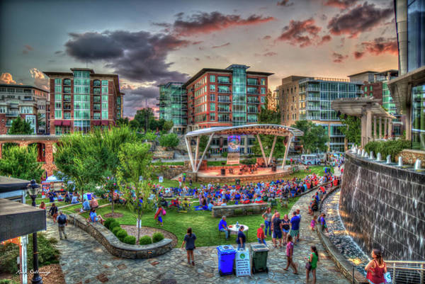 Photograph - Td Stage Concert Night Reedy River Falls Park Greenville South Carolina Art by Reid Callaway