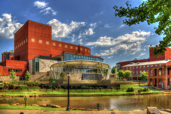 Photograph - T D Stage Concert Venue Reedy River Falls Park Downtown Greenville South Carolina Art by Reid Callaway