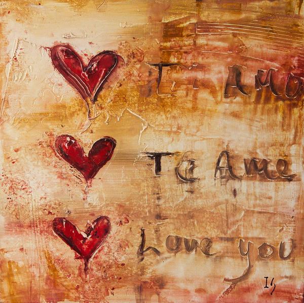 Wall Art - Mixed Media - Te Amo by Ivan Guaderrama