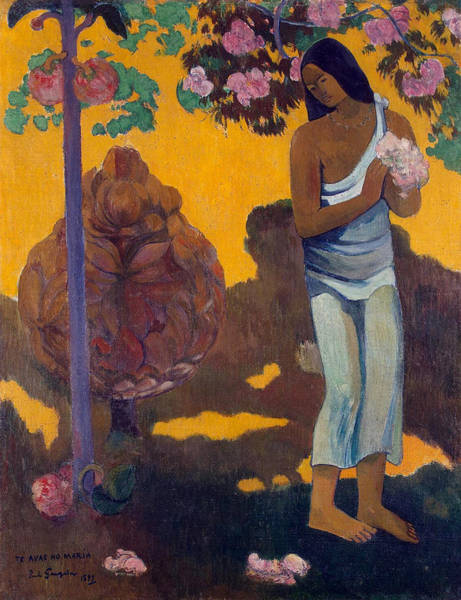 Metaphor Painting - Te Avae No Maria, The Month Of Mary by Paul Gauguin