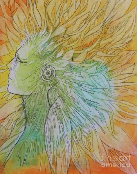 Drawing - Te-fiti by Marat Essex
