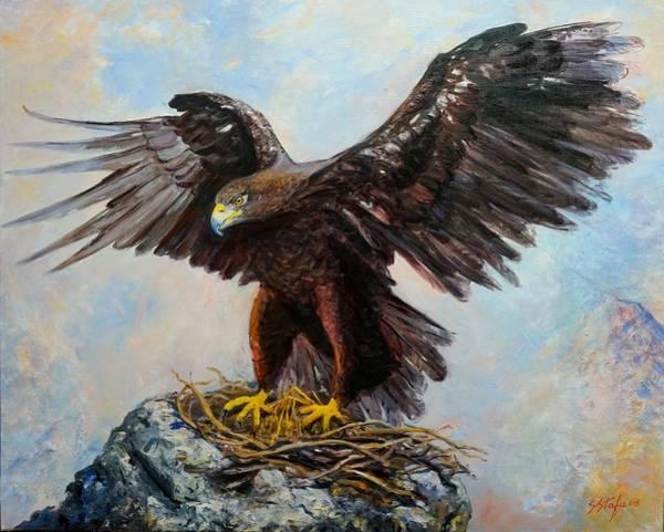 Painting - Te Paret Na Kane Lene Amanet Ne Dhe Te Huj Mos Me U Tret by Sefedin Stafa