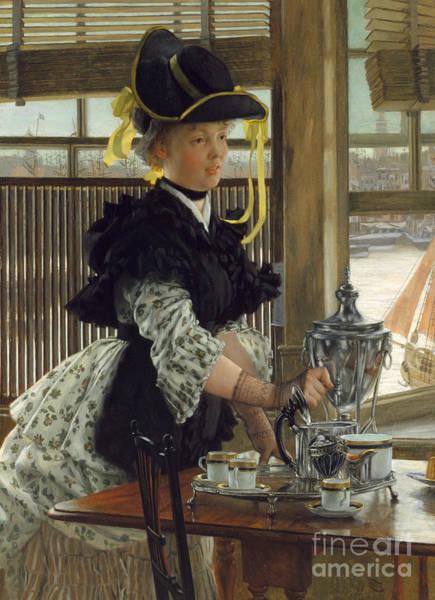 Wall Art - Painting - Tea, 1872  by James Jacques Joseph Tissot