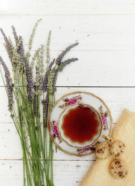 Wall Art - Photograph - Tea And Cookies Still Life by Rebecca Cozart