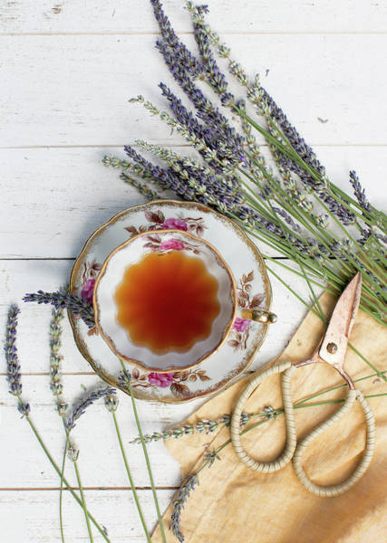 Wall Art - Photograph - Tea And Lavender 3 by Rebecca Cozart