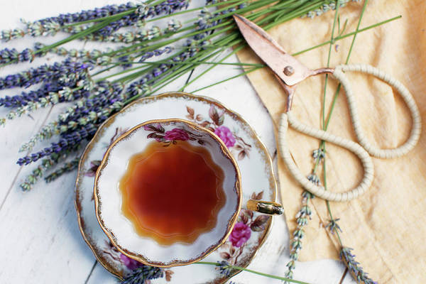 Wall Art - Photograph - Tea And Lavender by Rebecca Cozart