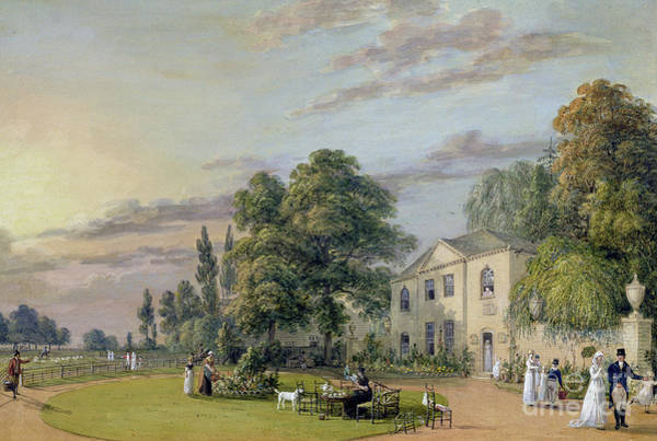 Green Lawn Wall Art - Painting - Tea At Englefield Green by Paul Sandby