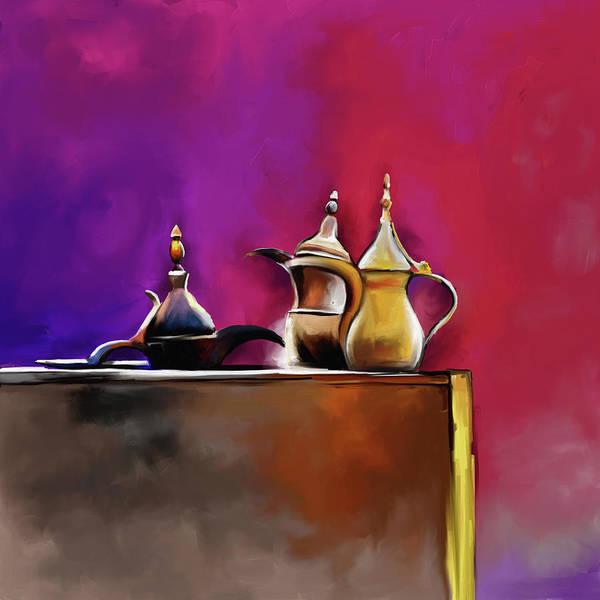 Tea Pot Wall Art - Painting - Tea Culture 673 1 by Mawra Tahreem