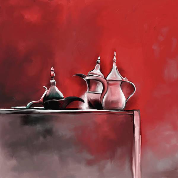 Tea Pot Wall Art - Painting - Tea Culture 673 2 by Mawra Tahreem