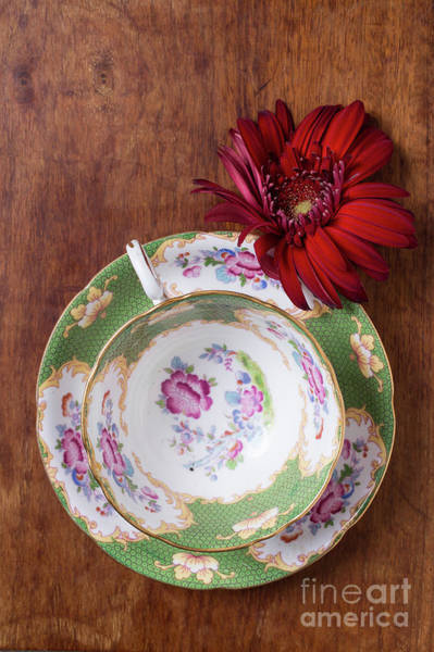 Wall Art - Photograph - Tea Cup And Flower by Edward Fielding