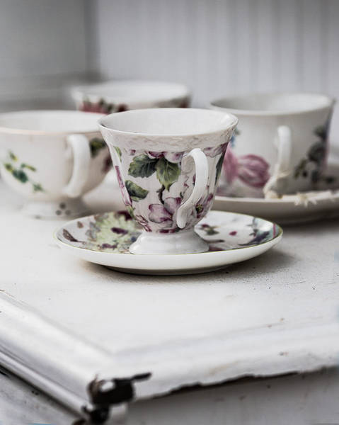 Wall Art - Photograph - Tea Cups #3 by Rebecca Cozart
