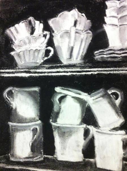 Drawing - Crooked Tea Cups by Cherylene Henderson