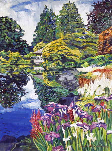 Painting - Tea House Lake by David Lloyd Glover
