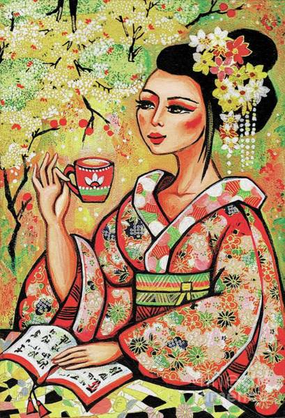 Painting - Tea In The Garden by Eva Campbell