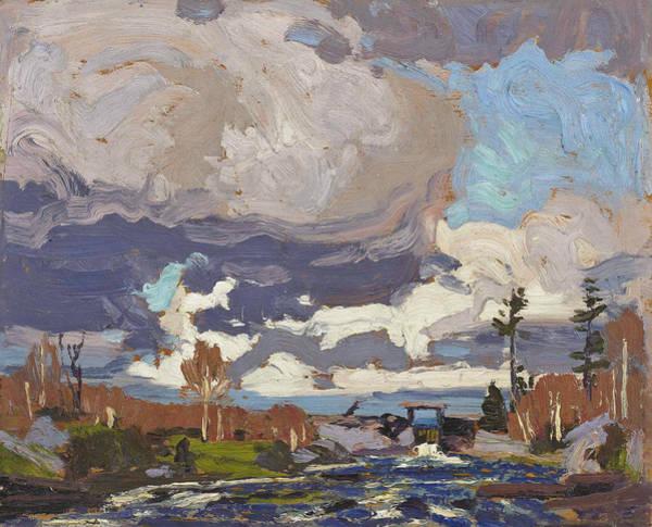 Painting - Tea Lake Dam, Spring by Tom Thomson