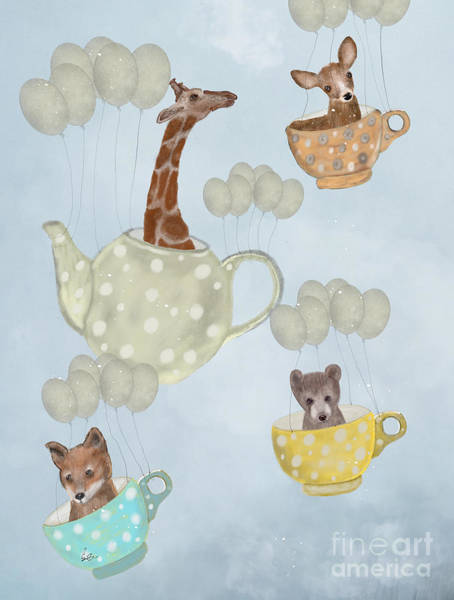 Dreamy Wall Art - Painting - Tea Party by Bri Buckley