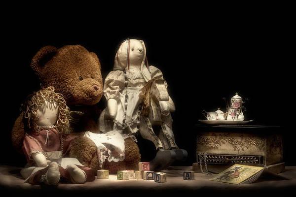 Teddy Photograph - Tea Party by Tom Mc Nemar
