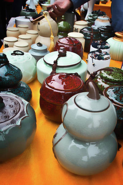 Photograph - Tea Pots For Sale 3 by George Taylor
