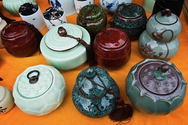 Photograph - Tea Pots For Sale 4 by George Taylor