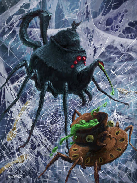 Digital Art - Tea Set Monster Spiders Fantasy by Martin Davey