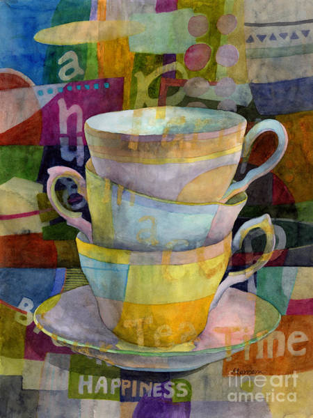 Happiness Painting - Tea Time by Hailey E Herrera