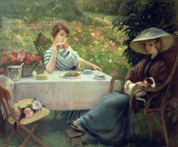 Drinking Painting - Tea Time by Jacques Jourdan