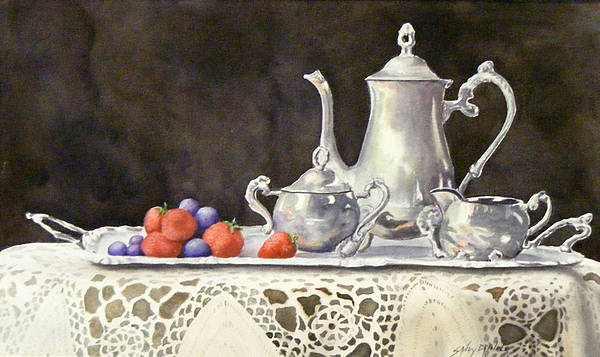 Painting - Tea Time  Original by Sandy Brindle