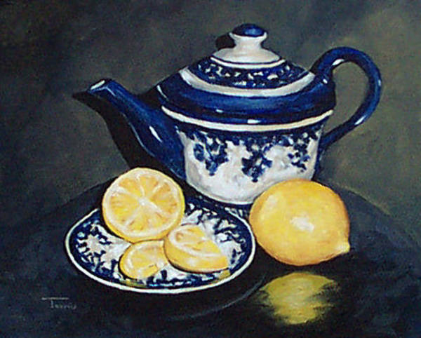 Wall Art - Painting - Tea With Lemons  by Torrie Smiley