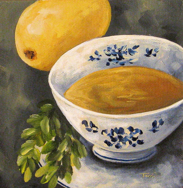 Wall Art - Painting - Tea With Mint And Lemon II  by Torrie Smiley