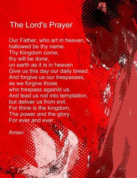 Wall Art - Mixed Media - Teach Me How To Pray by Fania Simon