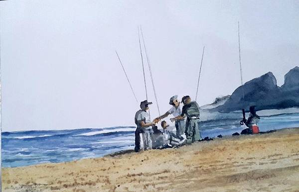 Painting - Teach Them To Fish by Tim Johnson