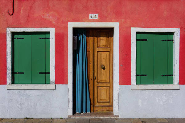Photograph - Teal Curtain by Michael Blanchette